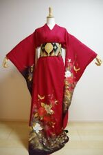 Kimono Dress Japan Furisode Hanayome Japanese costume Vintage dress KDJM-F0105