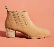 WOMENS ANTHROPOLOGIE LENA SUEDE LEATHER CHELSEA ANKLE BOOTS BOOTIES SHOES 38 8 M