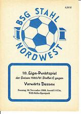 DDR-Liga 80/81 ZEPA acero el noroeste de Leipzig-ASG hacia adelante Dessau 16.11.1980