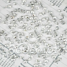 1000 Clear&Silver Diamond Confetti Wedding Party Table Scatter Decoration 4.5mm