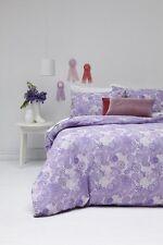 JESSIE Lilac Purple Reversible KING Size Quilt Doona Cover Set