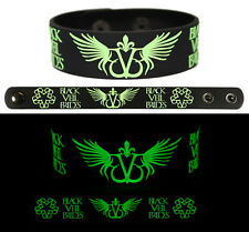 BLACK VEIL BRIDES Rubber Bracelet Wristband Glows in the Dark