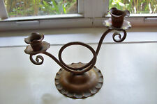 Gregorian - Solid Copper - Double Candle Holder