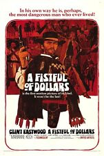 Classic CLINT EASTWOOD WESTERN-A fistful of dollars Movie Poster Film Cinema