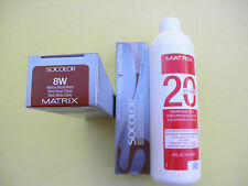 TWO 8W MATRIX SOCOLOR HAIRCOLOR PLUS ONE 16oz DEVELOPER NEW!