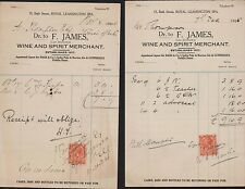 Leamington Spa. 1925. F James. Wine & Spirit Merchant. 13 Bath Street.  JD.149