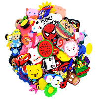50PCS Mixed Random Cartoon Shoe Charms Sandal Adapt Fit Shoe Bracelet Kids Gifts