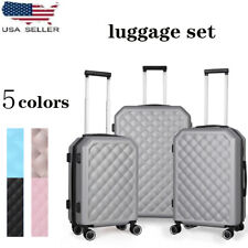 Hardside Lightweight Luggage With Spinner Wheels,3pcs Set (20/24/28) US SELLER