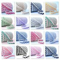 Picot Lace Edge Gingham BIAS BINDING - Cotton Trim 15+ Colours 1m/25m Wholesale