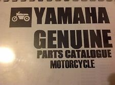 YAMAHA RD 400 G Daytona PARTS LIST MANUAL CATALOGUE 1979 paper bound copy.