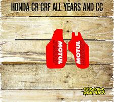 HONDA CRF CR 85 125 150 250 450 MOTOCROSS LOWER FORKGUARD STICKERS-GRAPHICS-MX 5