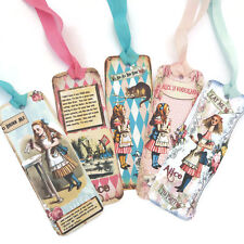 NEW Alice in Wonderland Bookmarks-Favours-Drink Me-Eat Me-Tea Party-Rabbit-Cat