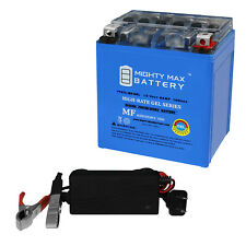 Mighty Max Ytx7L-Bs Gel Battery Replaces Honda 300 Cb300F 2018 + 12V 1A Charger