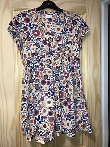 Blooming Marvellous Flower Print Cotton Tunic Top Maternity Size 10
