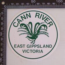 VINTAGE CANN RIVER EAST GIPPSLAND VICTORIA AUSTRALIA LUGGAGE CAR TOURIST STICKER