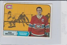 1968-1969 Topps Jean Beliveau #61 Hockey Card Montreal
