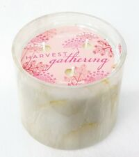1 Bath Body Works White Barn HARVEST GATHERING Marble 3-Wick Large Candle 13 oz