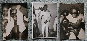3 Different Original Vintage 1953 Boxing Photos: Percy Bassett