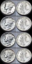 1942-P 1943-P 1944-P 1945-P Mercury Dimes - Brilliant Uncirculated - 90% Silver