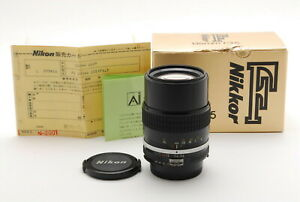 [Unused in BOX] Nikkor Ai 135mm f3.5 Telephoto MF Lens W/caps from Japan