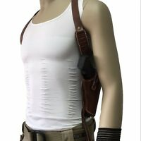 Tactical Leather Hidden Underarm Shoulder Pouch Bag Pistol Gun Armpit Holster