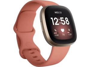Smartwatch - Fitbit Versa 3, Rosa, Funciones de salud avanzadas