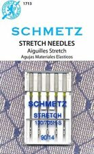 5 PACK SCHMETZ STRETCH SEWING MACHINE NEEDLES SIZE 14/90~FREE SHIPPING