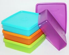 Tupperware Square-A-Way Set of 4 Square Aways Square Rounds Sandwich Keepers ❤️