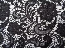 Guipure lace, 'Black Octopus' (per metre) dress fabric, sewing