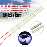 2x 12V Car Motorcycle Home 15 LED Flexible Strip Light Lamp 5630 SMD  //