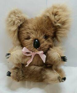 Koala Vintage Plush Real Fur 25cm Excellent Condition