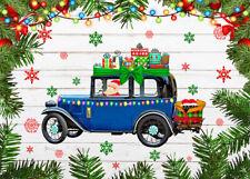 Christmas Classic Car Santa Gift Boxes Photo Background 7x5ft Vinyl Backdrop