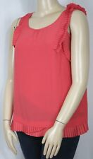 ROCKMANS Size 18 Pleat Detail Cami Lined Sleeveless Top