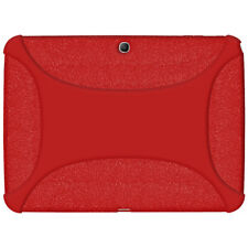 AMZER RED SILICONE RUBBER JELLY SOFT SKIN BACK CASE COVER FOR GALAXY TAB 3 10.1