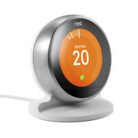 Nest Learning Thermostat 3rd Generation Bracket Stand Table Desk Holder White