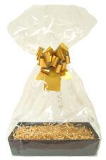 Make Your Own Gift Basket Hamper DIY Kit - Black Tray, Shred, Cello, Bow, Tag