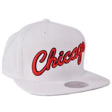Chicago Bulls Snapback Hat Mitchell Ness Adjustable NBA Licensed Sport White Cap