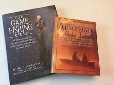 Fishing Combo ~The Game Fishing Bible + The Armchair Angler . Hardback Books