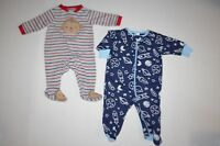 LOT of 4 Baby Boys One-Piece Footed Pajamas Romper & Jumpsuit 0-3M Dinosaur