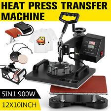 5 in 1 Heat Press Machine Digital Transfer Sublimation For T-Shirt Mug Hat