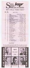 ORIGINAL Vintage KQV Pittsburgh Jun 12 1967 Music Survey Aretha Franklin RESPECT