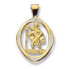 St. Christopher Pendant Yellow Gold Saint Christopher Necklace