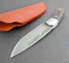 Full Tang Hunting Knife Fixed Blade Wood Handle Rescue Survival Combat Mini Camp