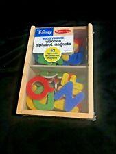 NEW Disney Mickey Mouse & Friends Wooden Alphabet Magnets Melissa & Doug