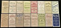T206 1909 TOBACCO HONUS WAGNER ROOKIE REPRINT 16 CARD LOT ALL THE RARE BACKS
