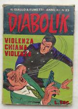 DIABOLIK N° 23 anno XI Astorina 1972