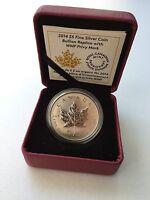 2014 Canada $5 Silver Maple Leaf Reverse Proof - World Money Fair Berlin Privy