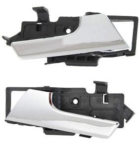 NEW Inside Door Handles Chrome Set Pair 2 for 2007-2011 Chevrolet Aveo G3 Wave