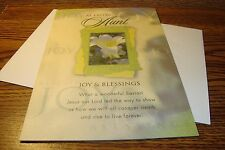 """EASTER RELIGIOUS : AUNT """" At EASTER Aunt Joy & Blessings """" Greeting Card  New e9"""