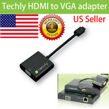 Techly hdmi to vga adapter Video  Converter Cable PC  HDTV Box 1080P